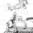 Stock Photo: Machines - artistic coloring page