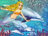 The ocean and the mermaids — Stock Photo
