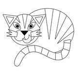 мультфильм животных - раскраски - иллюстрации для детей — Стоковое фото