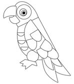 Cartoon animal - coloring page - illustration for the children — Stock Photo