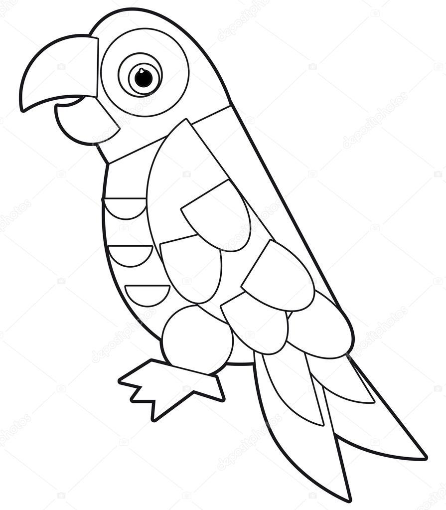 Cartoon animais - página para colorir - ilustração para as ...