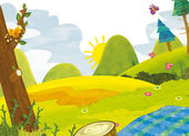 пикник в лесу — Стоковое фото