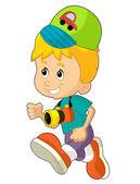 Cartoon child having fun — Stock Photo