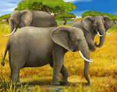 Safari - elephants — Stock Photo