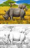 Safari - rhino — 图库照片