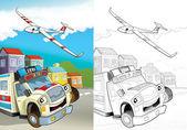 Cartoon vehicle — Stock Photo