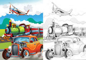 Cartoon vehicle — Foto de Stock