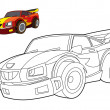 Coloring page - car — Stock Photo #39885055