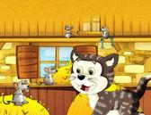 Cartoon farm illustration — Stock Photo