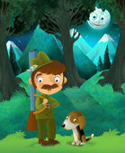 Fable stage - cartoon illustration — Stok fotoğraf