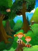 Fable stage - cartoon illustration — Photo