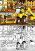 Enfants sur chantier — Photo