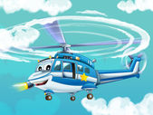 Cartoon helicopter — Stock Photo