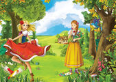 The princesses — Stock Photo