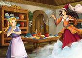 The princesses - Cinderella castles — Stock Photo