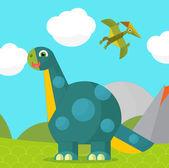 Cartoon-dinosaurier — Stockfoto