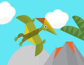 Cartoon dinosaur — Stock Photo
