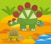 Cartoon dinosaurie — Stockfoto
