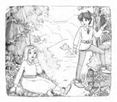 Karikatür peri masalı — Stok fotoğraf