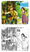 Cartoon fairy tale — Stock Photo