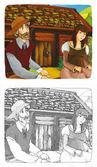 Cartoon-märchen — Stockfoto