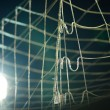 Football goal net close up — Stock Photo