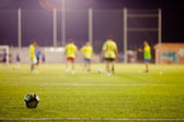Football match during training — Stock Photo