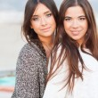 Young beautiful girlfriends portrait — Stock Photo