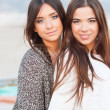 Stock Photo: Young beautiful girlfriends portrait