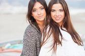 Young beautiful girlfriends portrait — Stock Photo