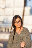 Young beautiful student with glasses — Stock Photo