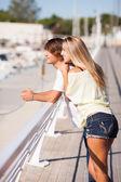 Young beautiful couple enjoying a walk — Stock Photo