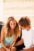 Young beautiful couple having fun — Stock Photo