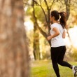 Stock Photo: Young beautiful woman jogging