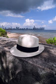 Cappello panama a panama city — Foto Stock