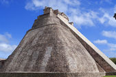 Maya Pyramid in Uxmal, Yucatán, Mexico — Stock Photo