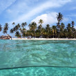 Tropical Island, San Blas Archipelago,Panama — Stock Photo