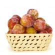 Basket with plums — Stock Photo