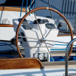 Stockfoto: Steering wheel of management of a yacht