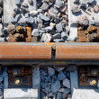 Joint a railway rail — Stock Photo