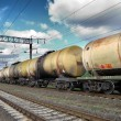 Stock Photo: Oil and fuel transportation by rail