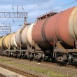 Railway tanks for mineral oil — Stock Photo #12116244