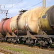 Oil transportation in tanks by rail — Stock Photo #12116245