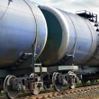 The train transports tanks - Stock Photo