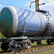 The train transports tanks — Stock Photo