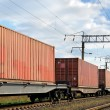 Transportation of cargoes by rail — стоковое фото #12116249