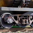 The wheel mechanism of the train - Foto Stock