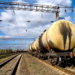 Train transports tanks with oil — стоковое фото #12116257