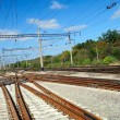 View of the railway conjunction — Stock Photo #12116263