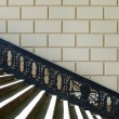 Stockfoto: Pedestriladder with shod handrail